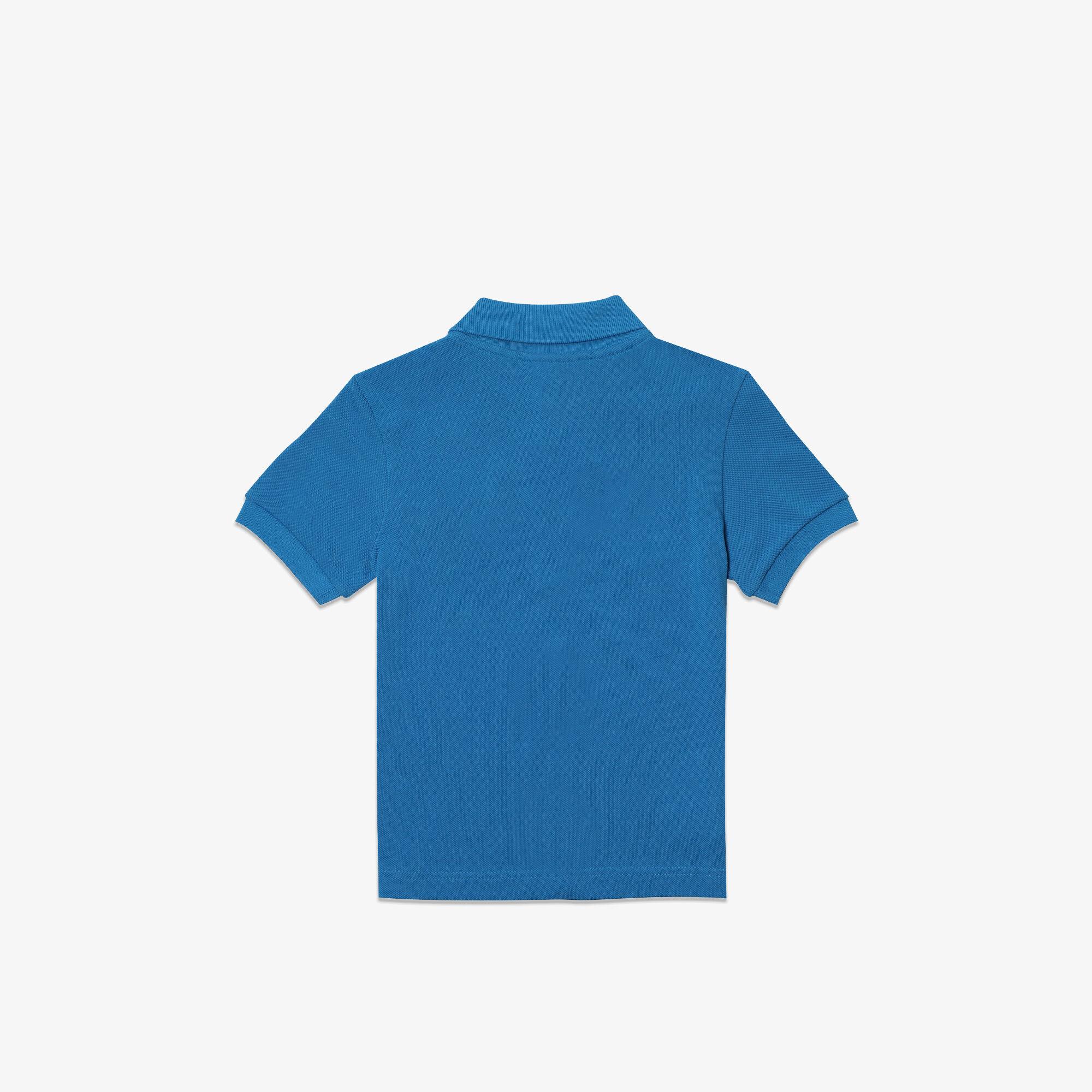 قميص بولو من بيكيه القطن بتصميم تمساح ظريف للأولاد