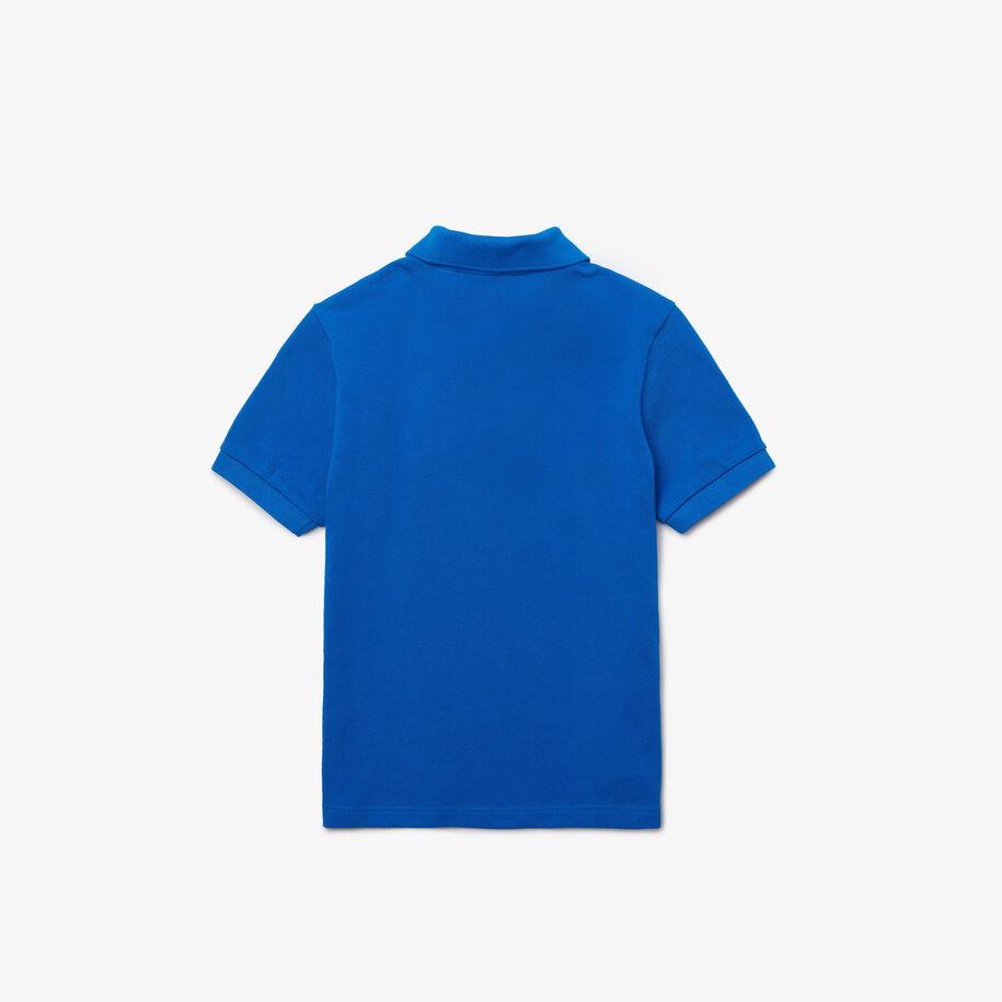قميص بولو من بيكيه القطن الناعم للأولاد مع شارات