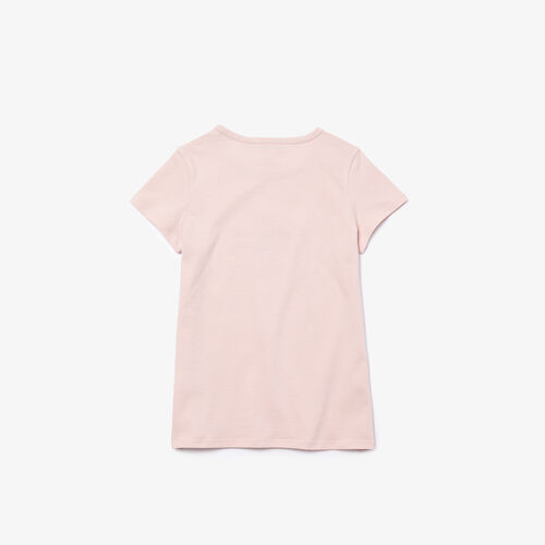Girls' Logo Print Cotton T-shirt