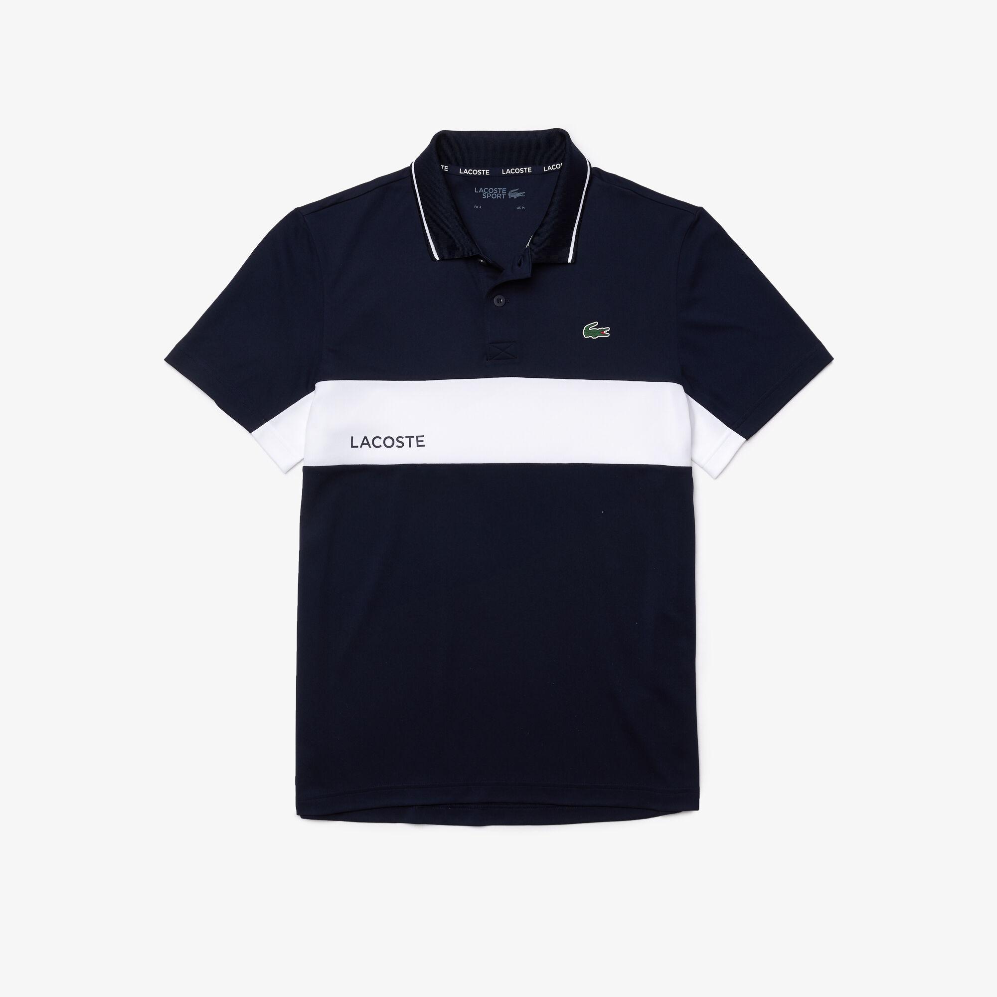 Men's Lacoste SPORT Colourblock Breathable Resistant Polo Shirt