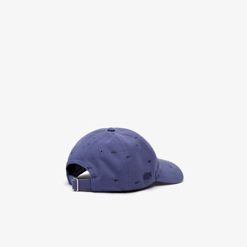 Men's Crocodile Print Cotton Piqué Cap