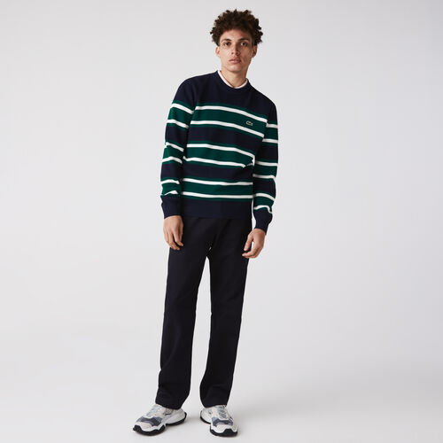Men's Heritage Crew Neck Striped Cotton Sweater