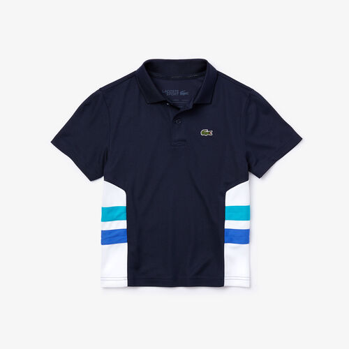 Boy's Lacoste Sport Breathable Colourblock Tennis Polo Shirt