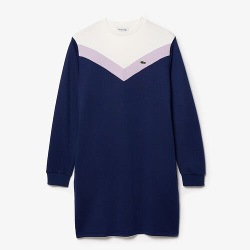 Women's Colourblock Fleece Sweatshirt Dress