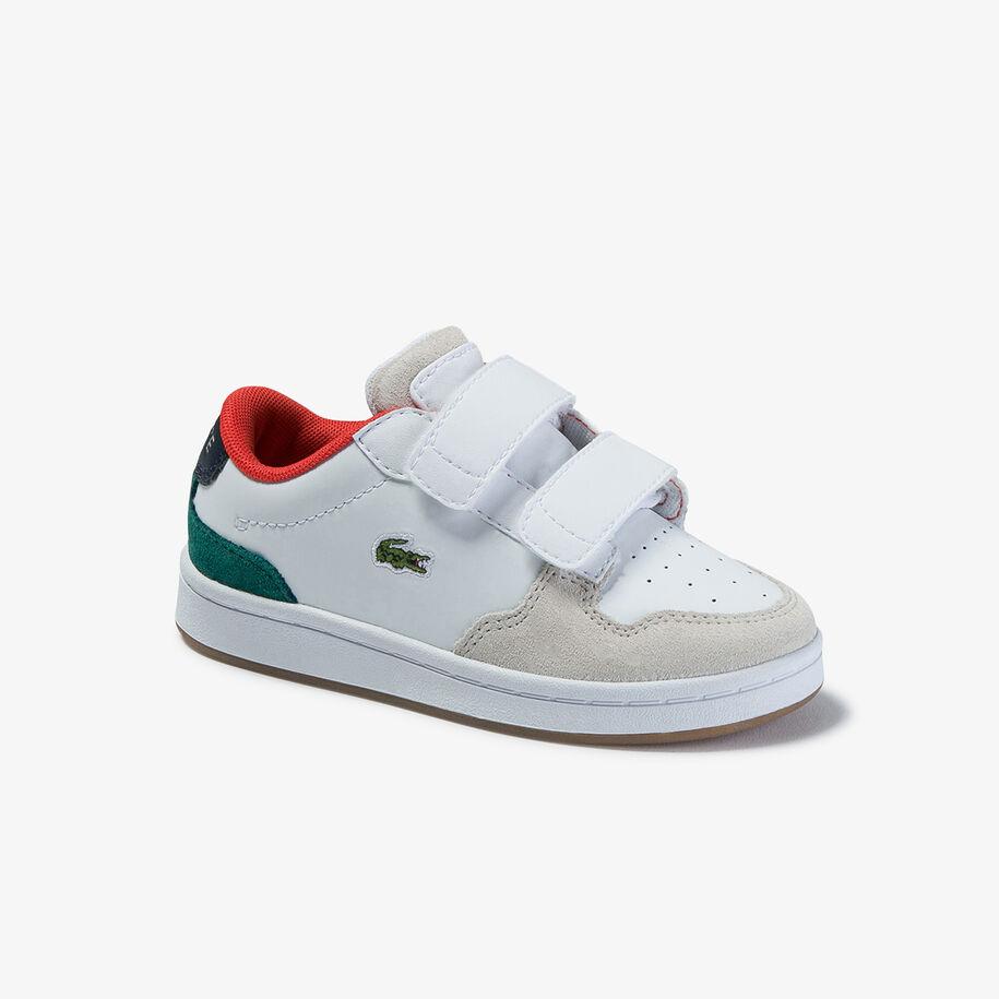 حذاء رياضي خفيف للأطفال الصغار من مجموعة Masters Cup من الجلد الفضي والشمواه