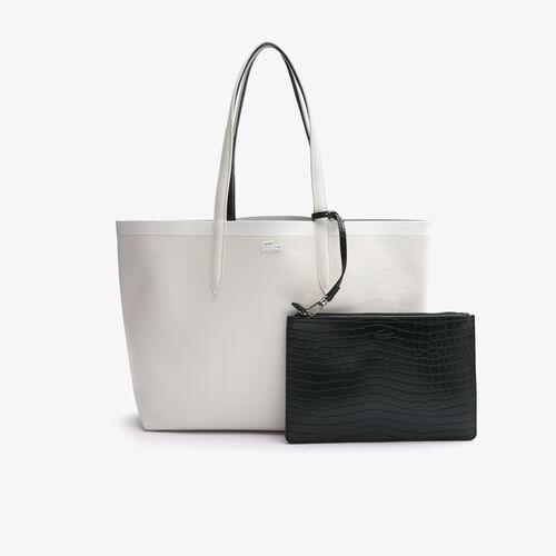 Women's Anna Crocodile Effect Pouch Canvas Large Shopper Bag