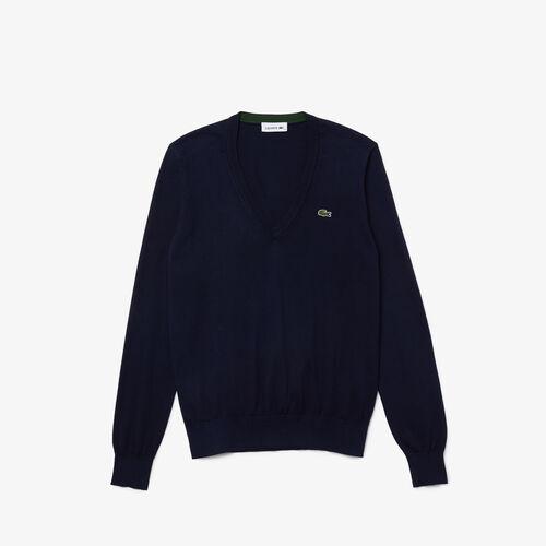 Women's V-neck Loose Organic Cotton Sweater