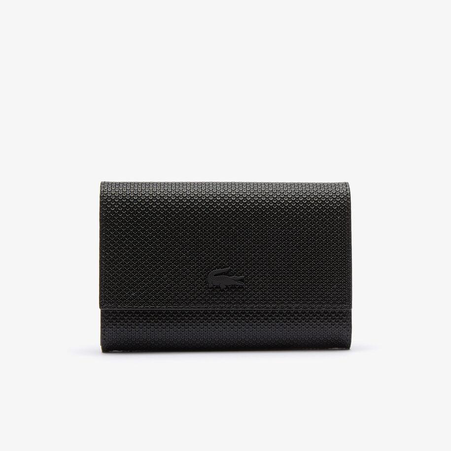 Women's Chantaco Matte Piqué Leather Snap Flap Wallet