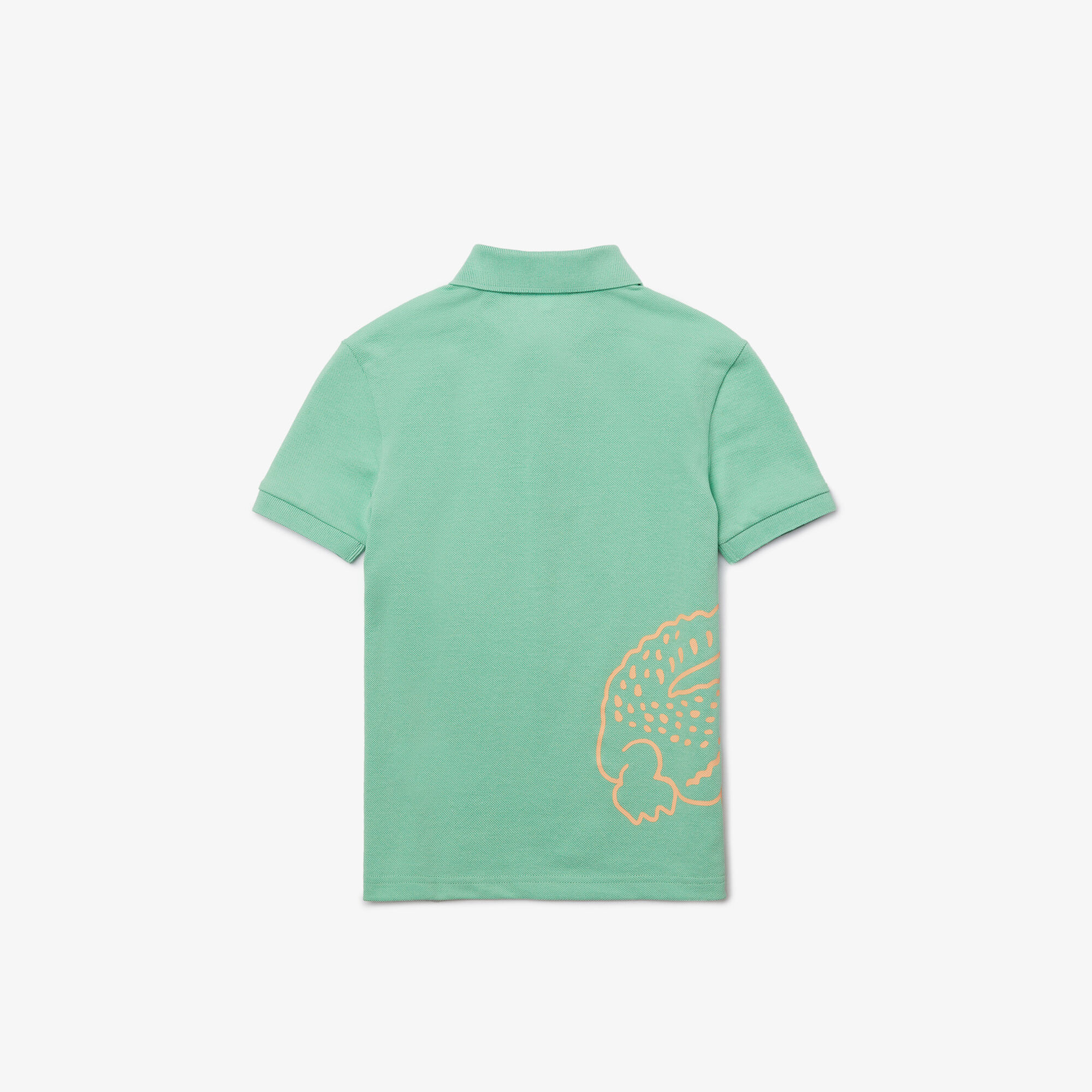 Boys' Lacoste Crocodile Print Cotton Piqué Polo