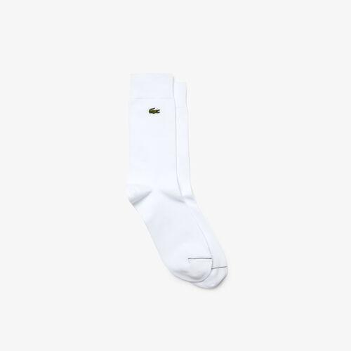 Men's Embroidered Crocodile Cotton Blend Socks