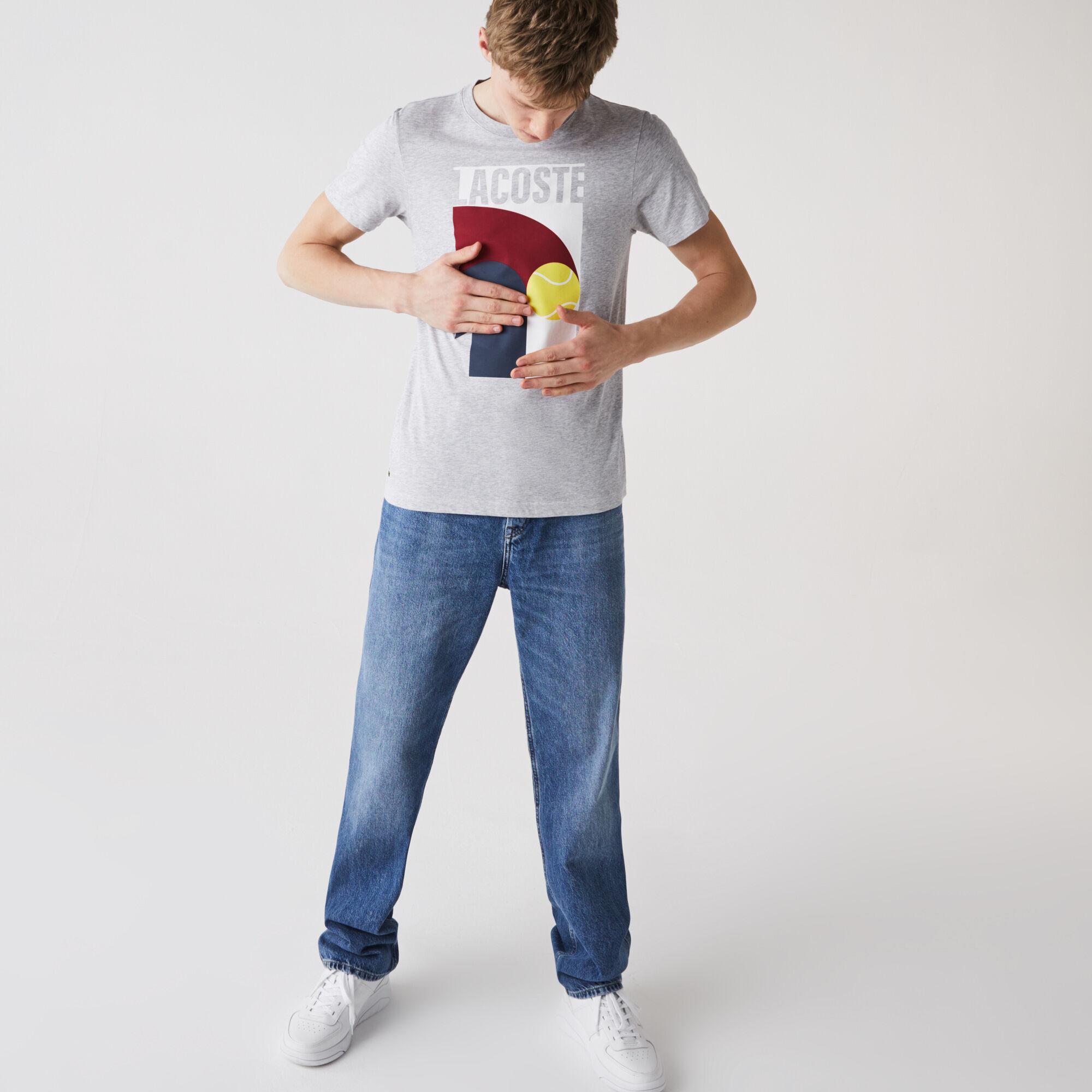 Men's Lacoste SPORT Breathable Graphic Print T-shirt