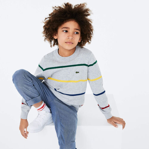 Boys' Coloured Stripe Cotton Blend Sweater