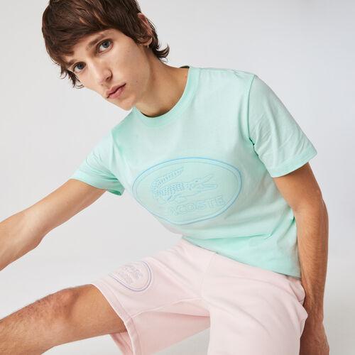 Men's Crew Neck Embroidered Logo Cotton T-shirt
