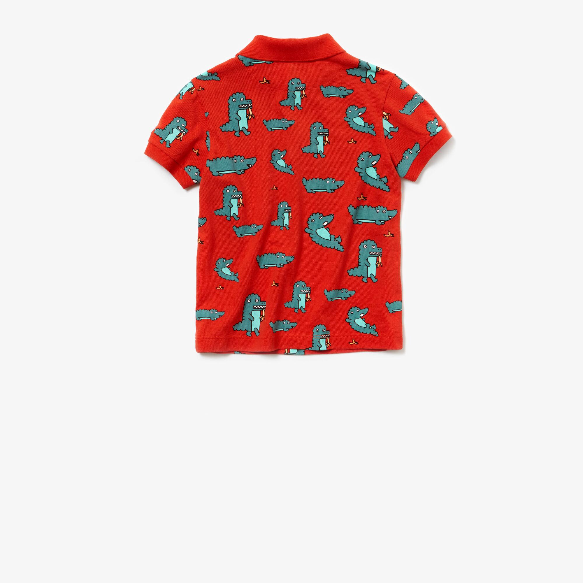قميص بولو للصبيان من ميني بيكيه بطبعة من Lacoste