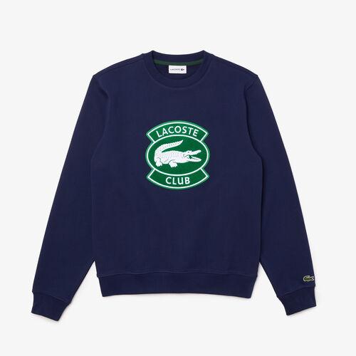 Men's Lacoste Club Badge Cotton Fleece Sweatshirt
