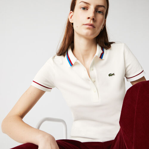 Women's Made In France Slim Fit Organic Cotton Piqué Polo