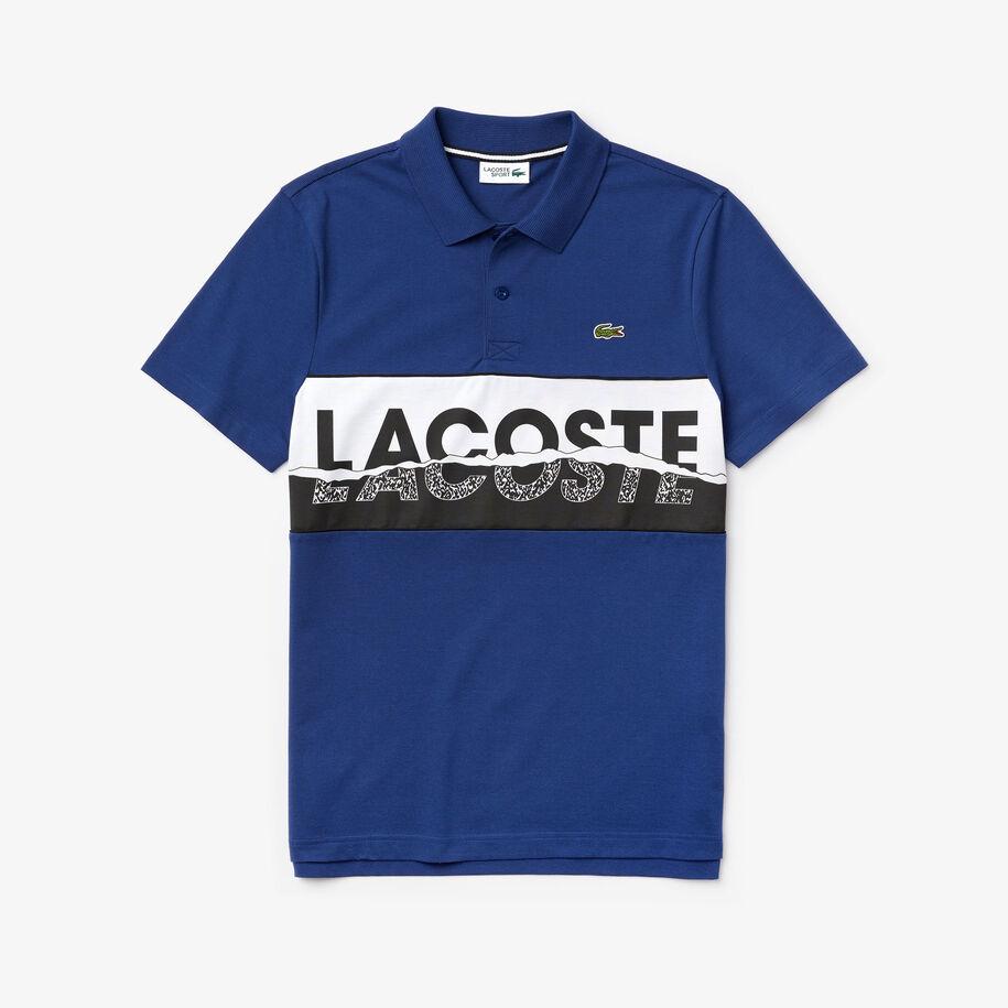 Men's Lacoste SPORT Graphic Print Ultra-Light Cotton Polo Shirt