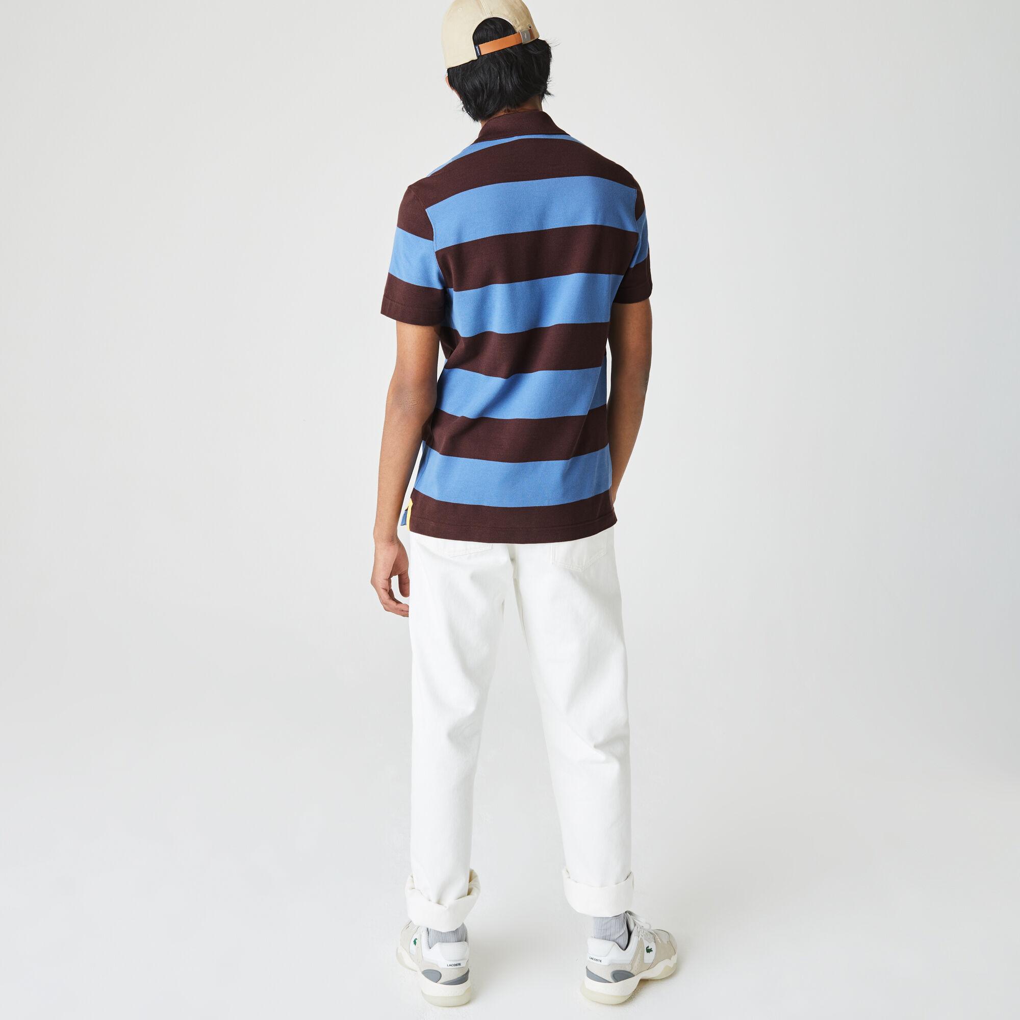 Men's Lacoste Regular Fit Striped Cotton Piqué Polo Shirt