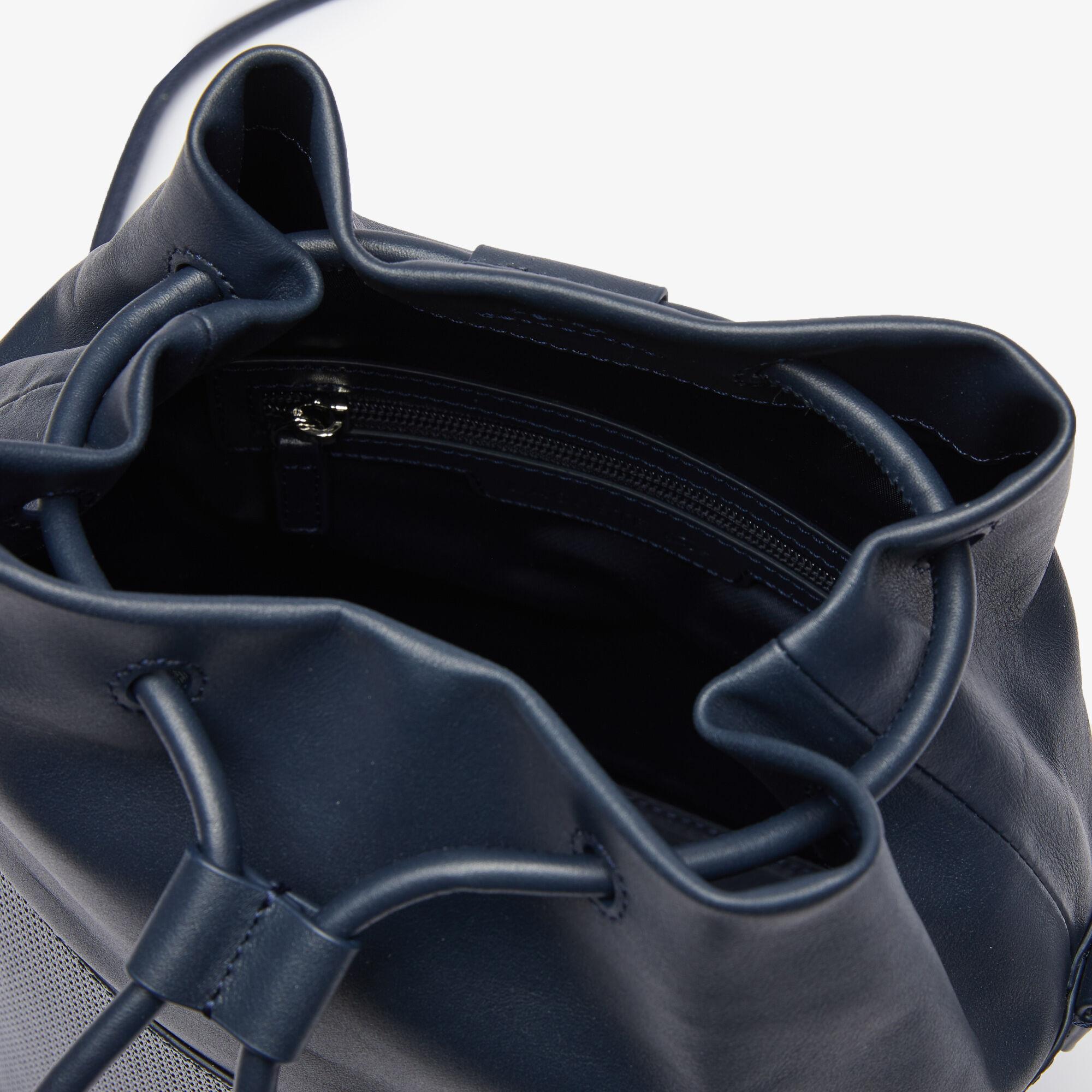 Women's Chantaco Matte Piqué Leather Drawstring Bucket Bag