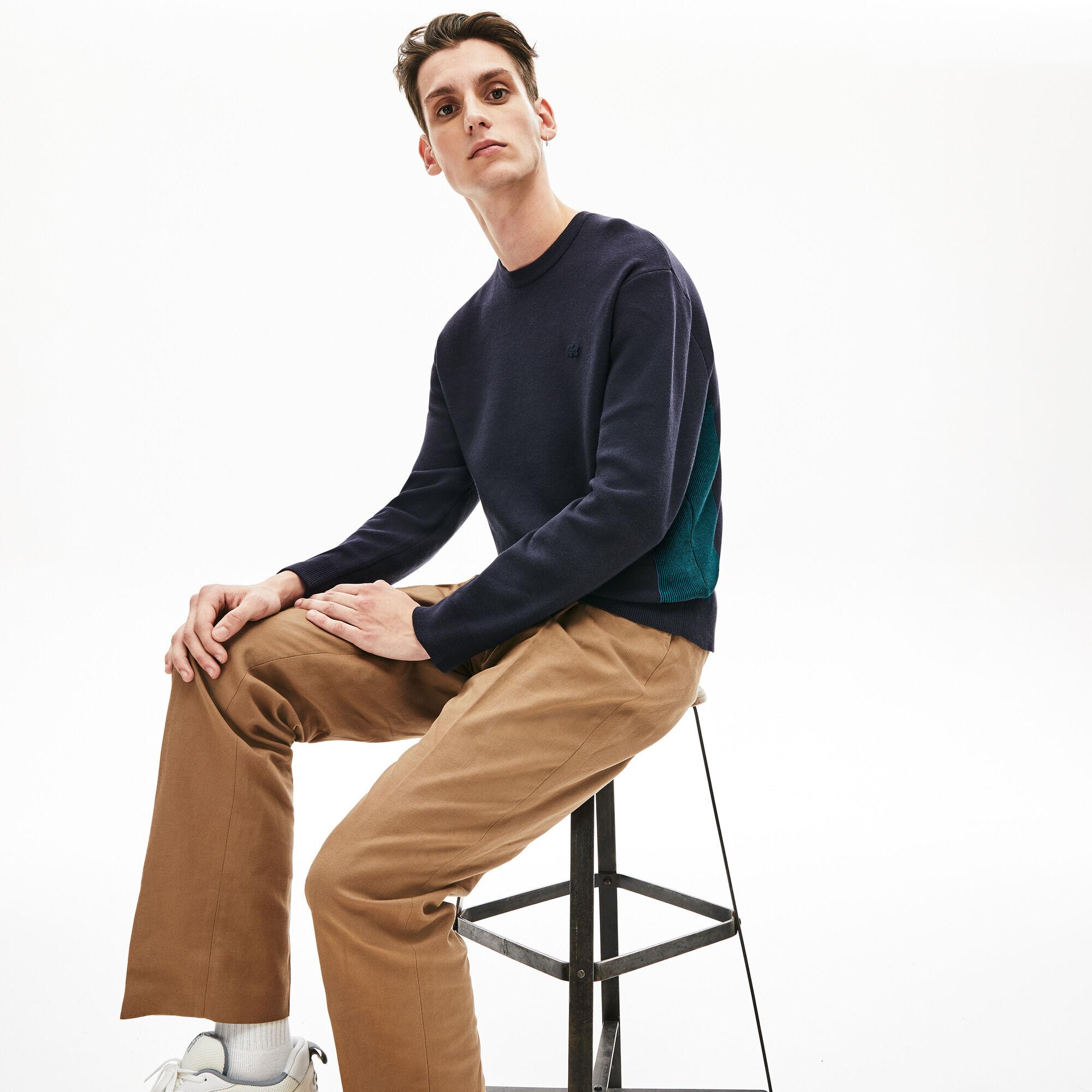 Men's Contrast Effects Knit Sweater