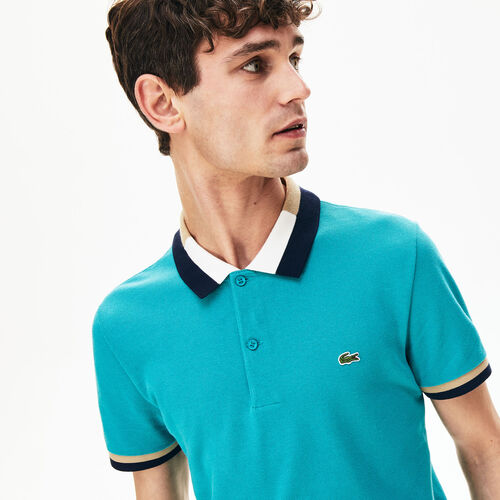 Men's Lacoste Contrast Cotton Polo Shirt