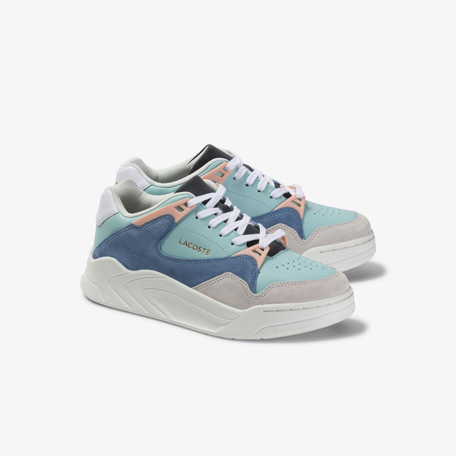 Women's Court Slam Leather and Suede Sneakers