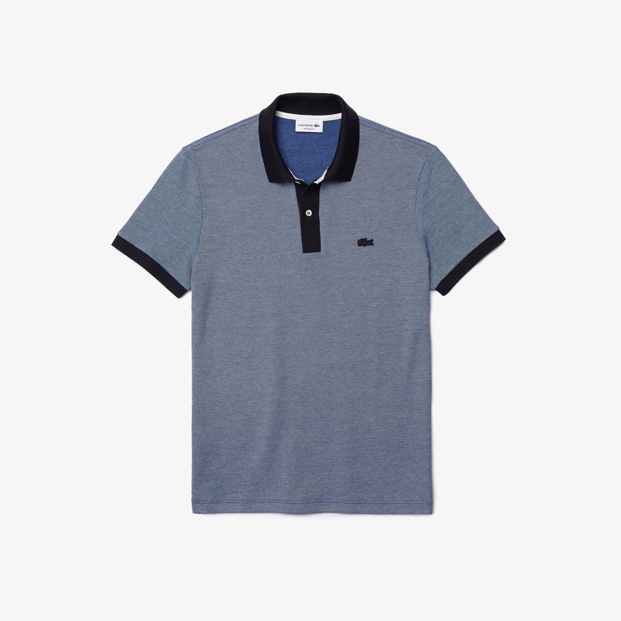 Men's Lacoste Regular Fit Textured Cotton Piqué Polo