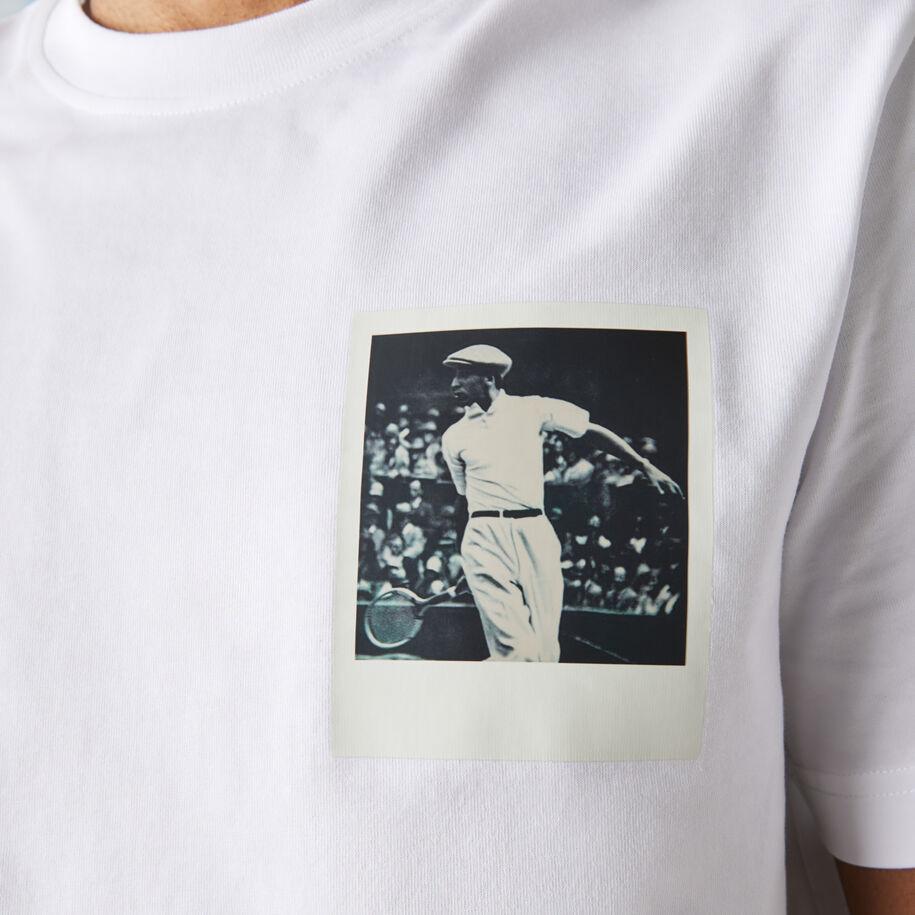 Men's Polaroid Collaboration Breathable Thermosensitive Badge T-shirt