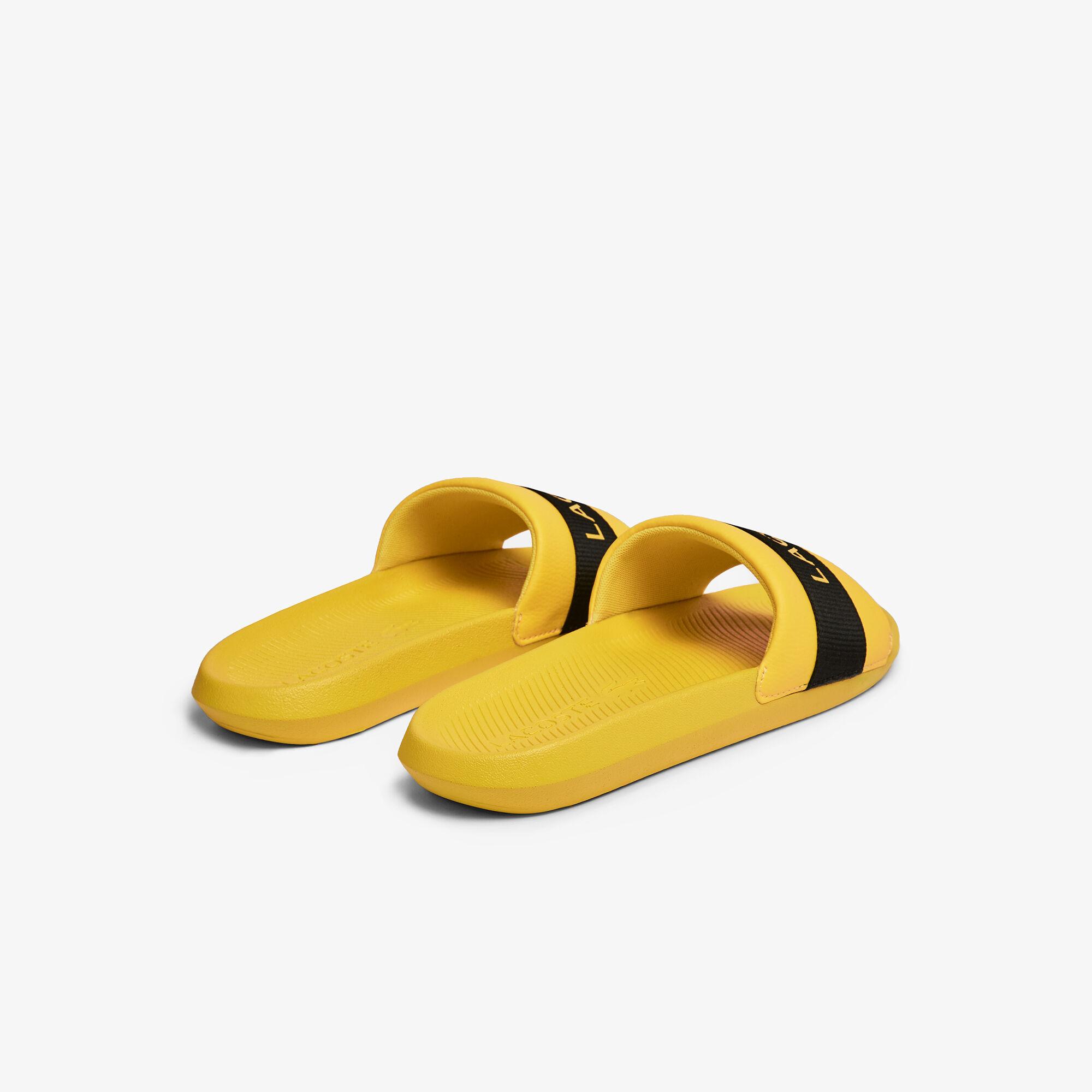 Men's Croco Slides Textile Logo