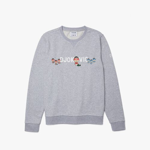 Men's Lacoste Sport Collab Youssef Sy In Fleece Sweatshirt