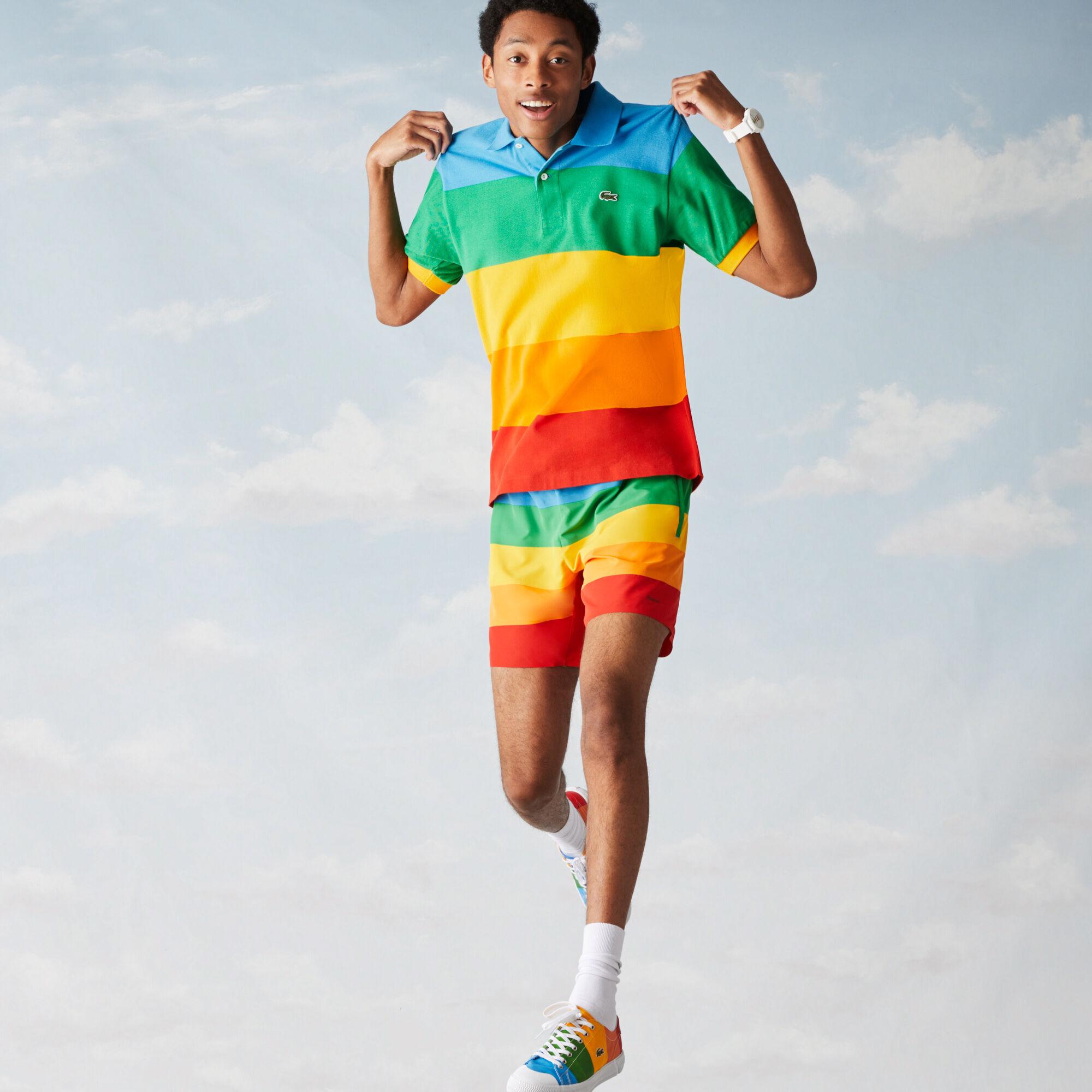 Men's Polaroid Collaboration Color Striped Classic Fit Polo