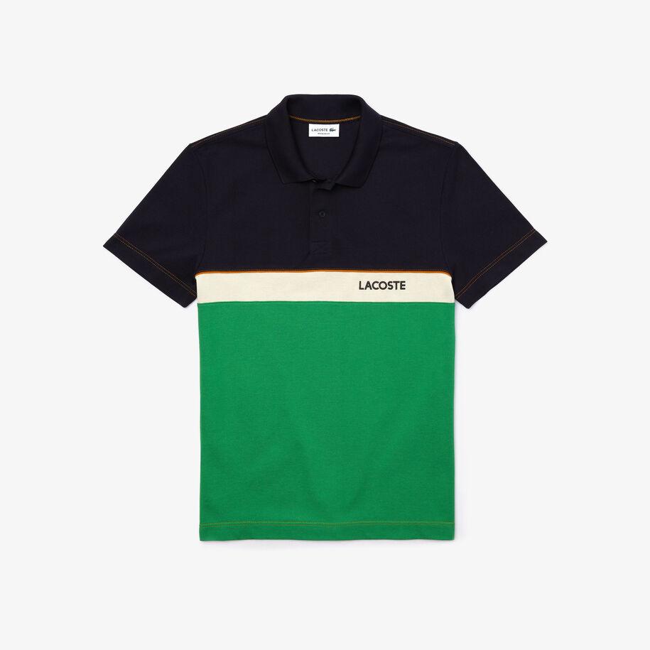 Men's Lacoste Regular Fit Colourblock Cotton Piqué Polo Shirt