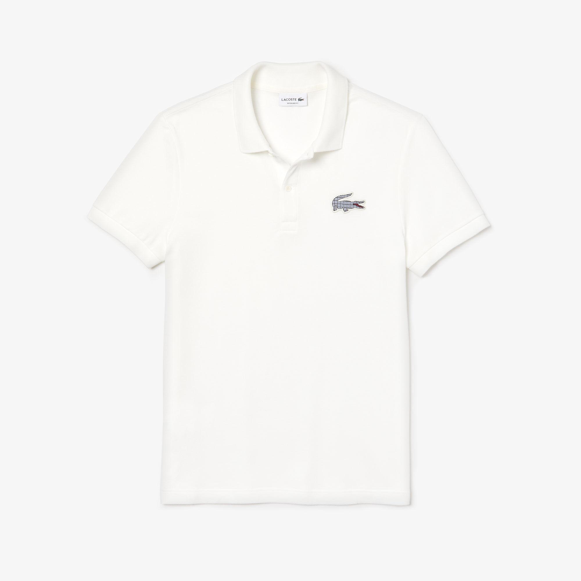 Men's Lacoste Regular Fit Check Croc Badge Piqué Polo Shirt