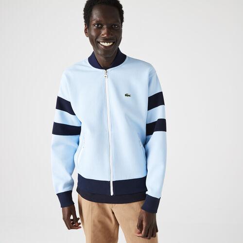 Men's Heritage Teddy Style Zippered Cotton Blend Sweatshirt