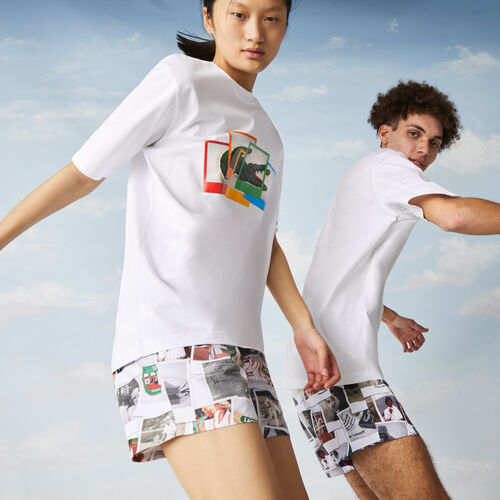 Unisex Lacoste Live Polaroid Collaboration Loose Fit Cotton T-shirt