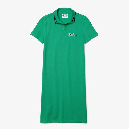 Women's Lacoste X Peanuts Organic Cotton Polo Dress
