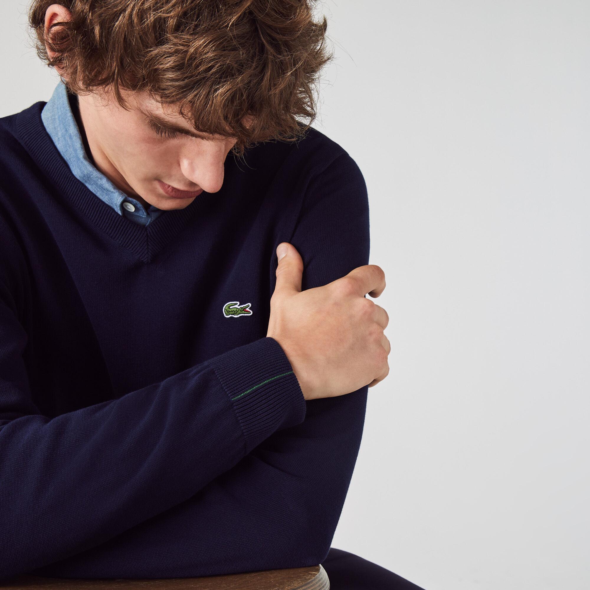 Men's V-neck Organic Cotton Sweater