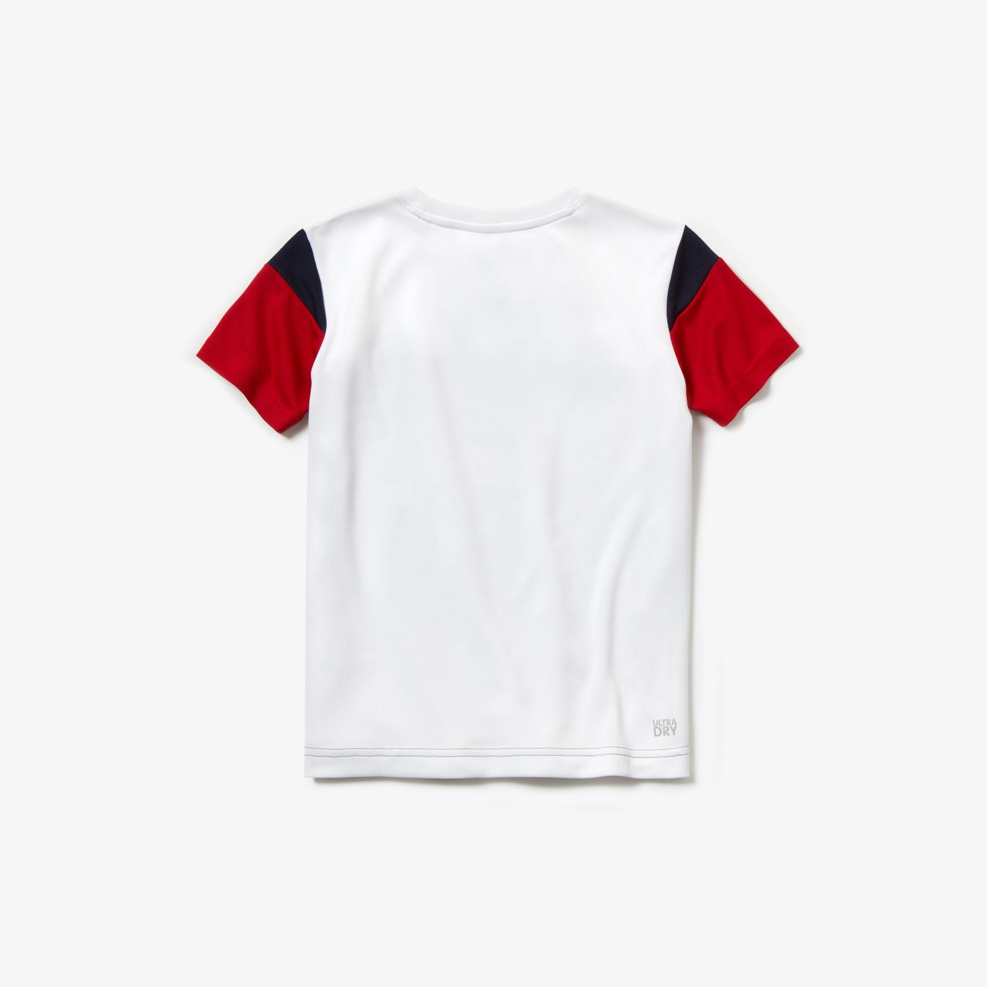 Boys' Lacoste SPORT Crew Neck Colourblock Piqué Tennis T-shirt