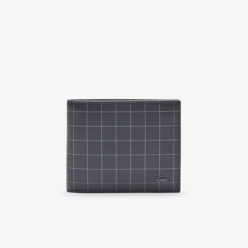 Men's Fitzgerald Smooth Checkered Leather Small Wallet