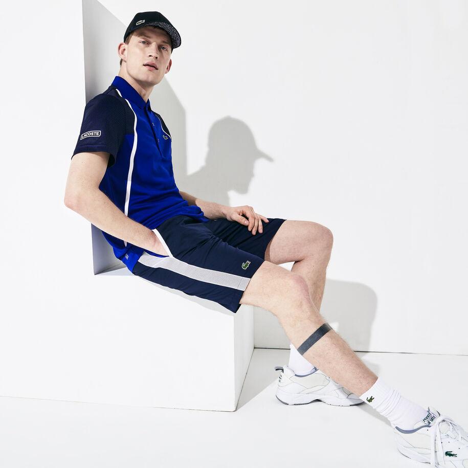 Men's Lacoste SPORT Contrast Cut-Out Light Tennis Shorts