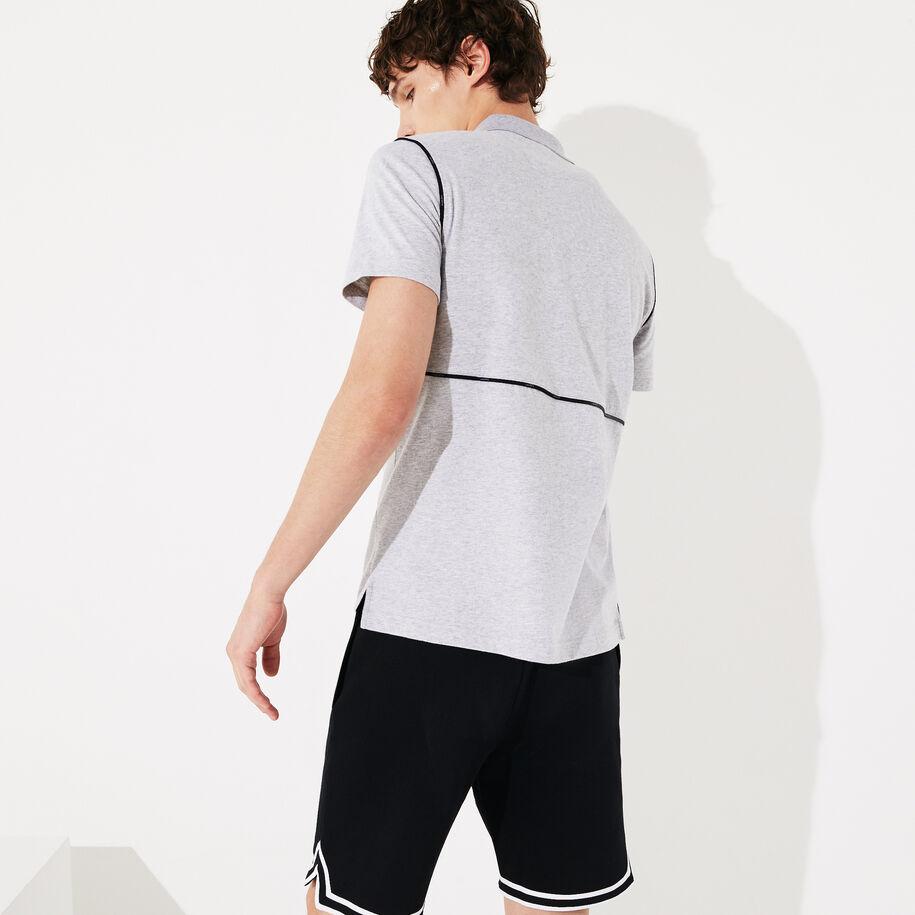 Men's Lacoste SPORT Ultra Soft Cotton Zip Polo Shirt