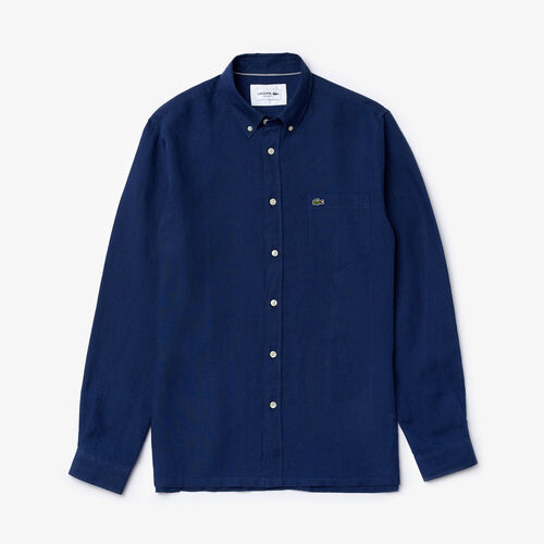 Men's Regular Fit Linen Shirt