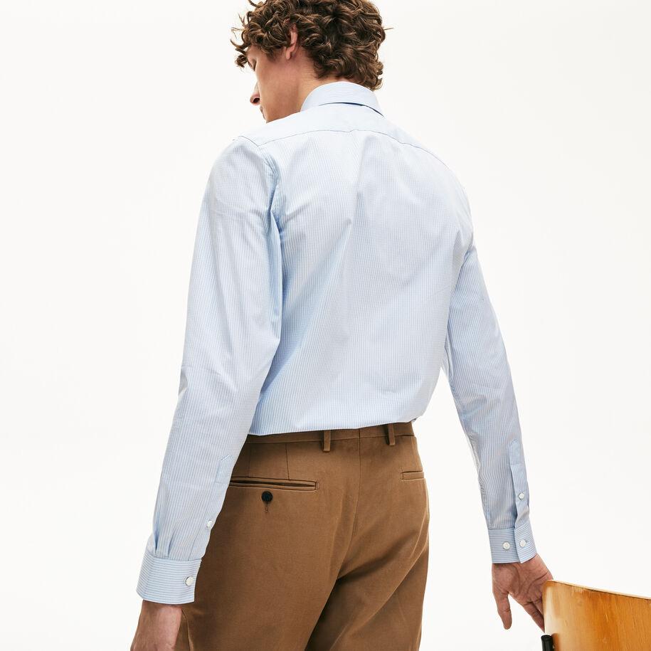 قميص رجالي من قطن البوبلين بالنقشة المُقلمة